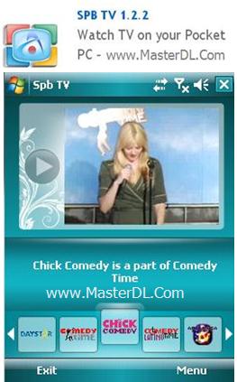 دانلود نرم افزار تماشای تلوزیون در کامپیوتر SPB TV 1.2.2  Watch TV on your Pocket PC