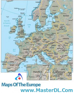 maps of the Europe