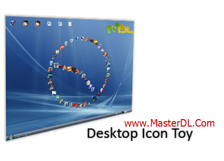 چینش زیبای آیکون های دسکتاپ با Desktop Icon Toy 4.5