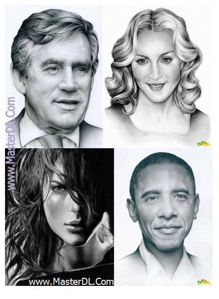 مجموعه عکس های طراحی شده با مداد ازشخصیت ها