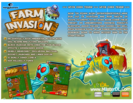 دانلود بازی زيبا و جذاب Farm Invasion برای موبایل