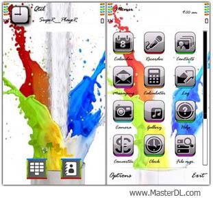 تم زیبا و بی نظیر Rainbow Splash برای نوکیا سری 60 ورژن 5