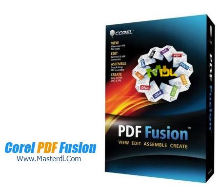 دانلود نرم افزار ساخت PDF با نام Corel PDF Fusion v1.0